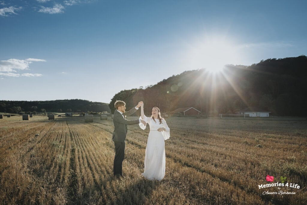 Bröllopsvals på åkern