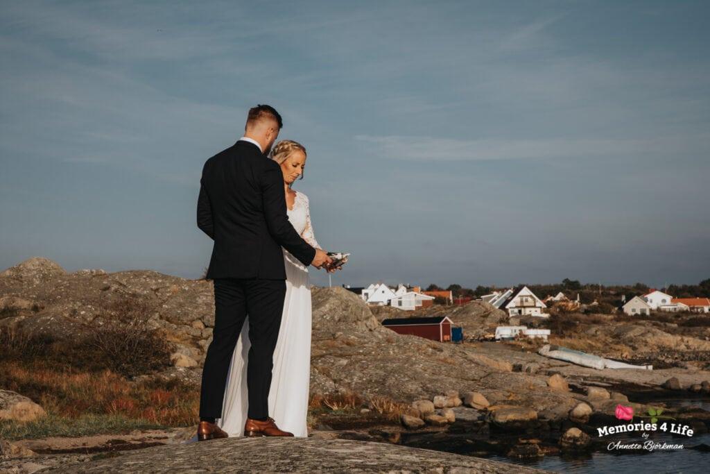 Bröllopsfotografering Donsö